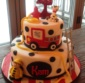 Fire Engine Themed Birthday Cake