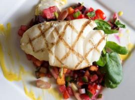 Grilled Halibut & Fruit Tomato Salsa